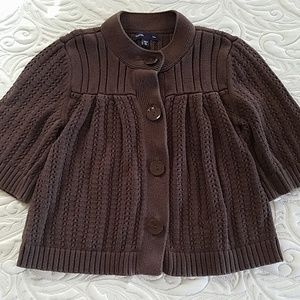 Gap Kids Girls Cardigan Sweater M (8) Brown